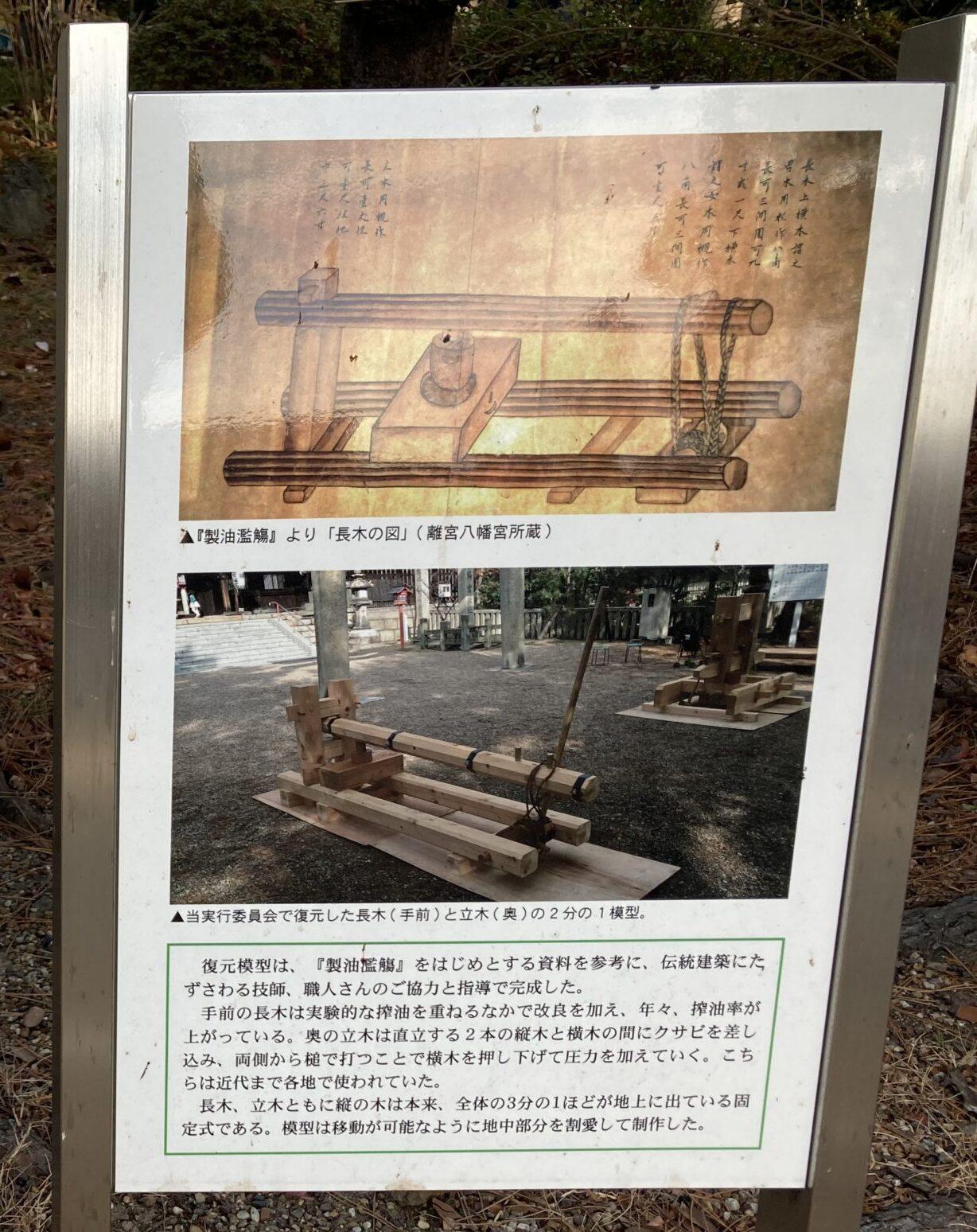 長木の図 離宮八幡宮