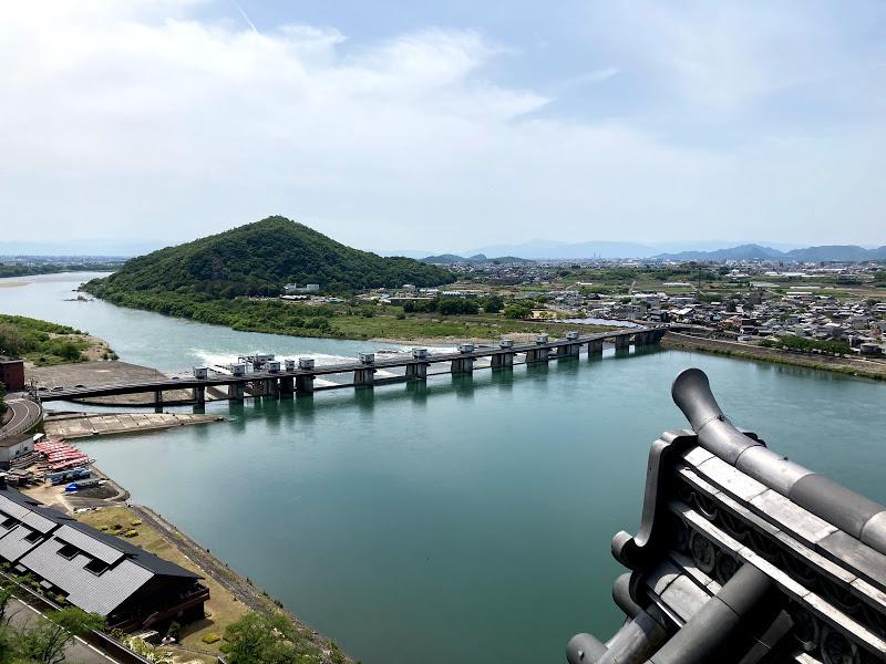 最上階からの景色(木曽川)
